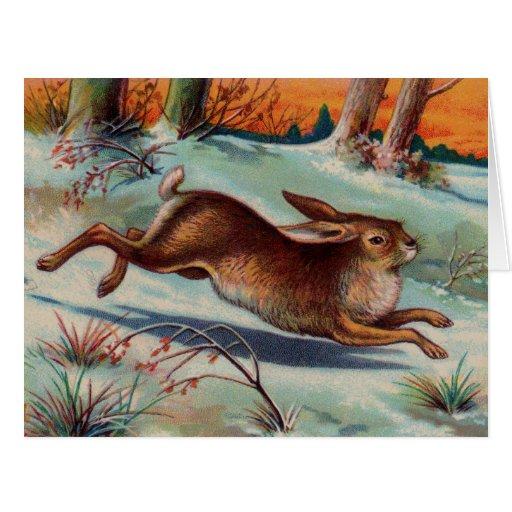December Rabbit Big Greeting Card