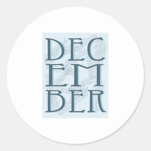 December Round Stickers