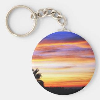 December Sunrise Basic Round Button Keychain
