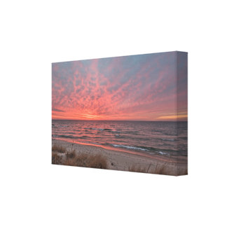 December Sunset on Lake Michigan at Mears Canvas Print