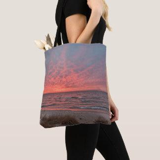 December Sunset on Lake Michigan Tote Bag