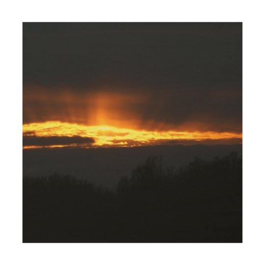 December Sunset, Wood Photo Print. Wood Print