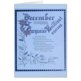 December Turquoise Card