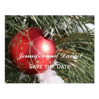 December Wedding Announcement Card