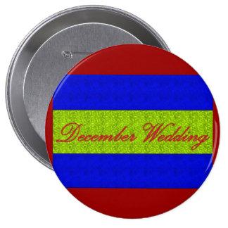 December Wedding Elegant Button Pin