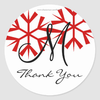December Wedding Monogram M Thank You Seal