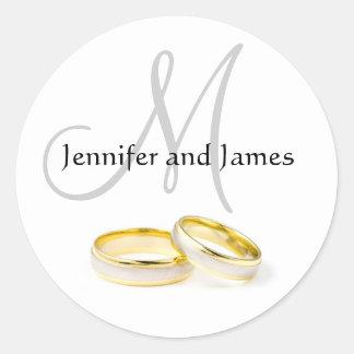December Wedding Names Monogram Sticker