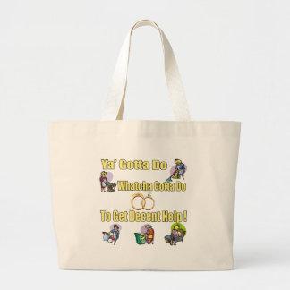 Decent Help Wedding Tote Bag