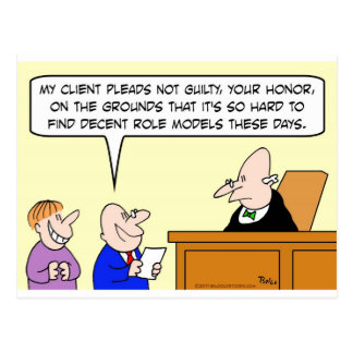 decent role models judge trial postcard