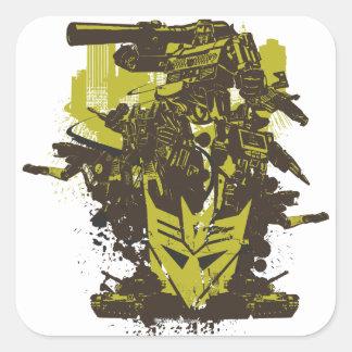 Decepticon Grunge Collage Square Sticker