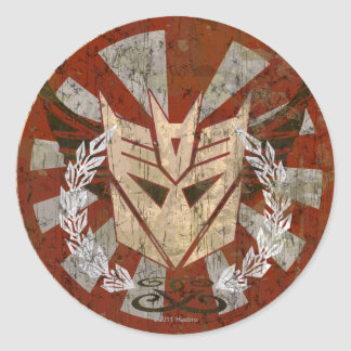 Decepticon Tribal Badge Classic Round Sticker