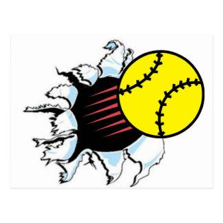 Déchirure du base-ball il cartes postales