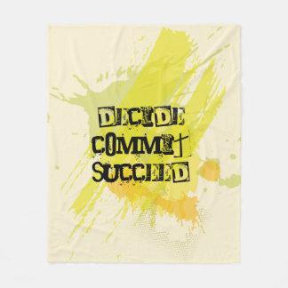 Decide. Commit. Succeed. Motivational Quote Fleece Blanket