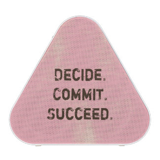 Decide. Commit. Succeed. Motivational Quote Saying Blueooth Speaker