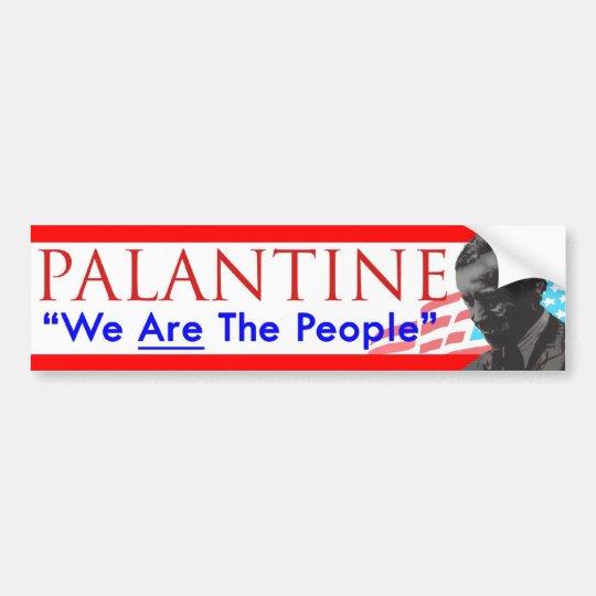 Decision 2012 Vote Palantine We Are the People Bumper Sticker