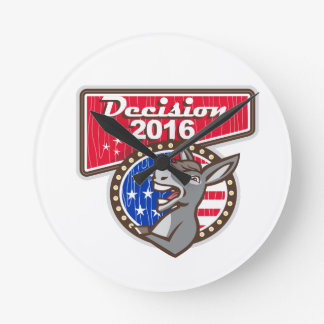 Decision 2016 Democrat Donkey Clock