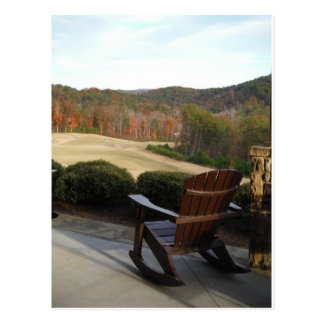Deck Chair overlooking Golf Course Postcard