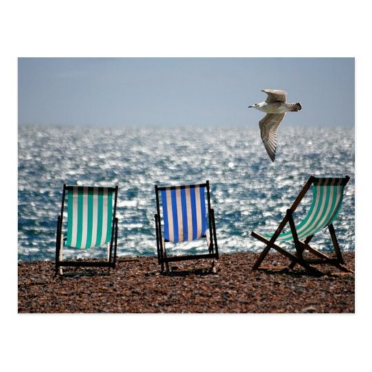 Deck Chairs Postcard