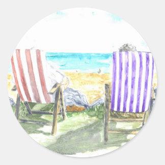'Deck Chairs' Sticker