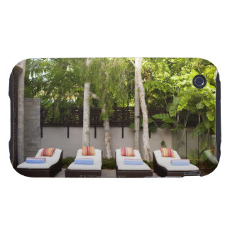 Deck Chairs Tropical House Tough iPhone 3 Covers
