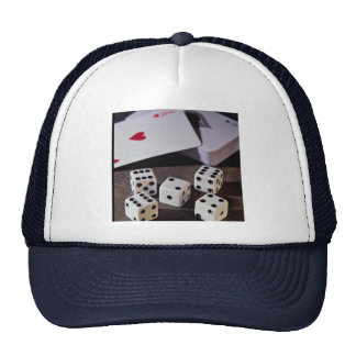 Deck of cards and dice hats