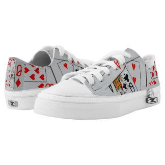 Deck_Of_Playing_Cards,_Unisex_Lowtop_Zipz_Sneakers Low-Top Sneakers