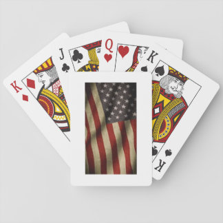 Deck of poker with American flag Playing Cards