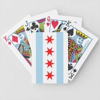 Deck Playing Cards with Flag of Chicago, Illinois