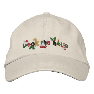Deck the Halls Embroidered Hats