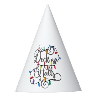 deck the halls holiday lights Christmas Party Hat