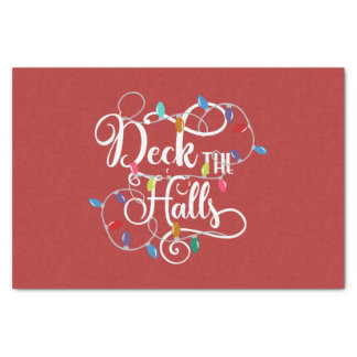 deck the halls holiday lights Christmas Tissue Paper