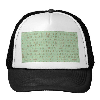 Deck the Halls Holiday Pattern Trucker Hats