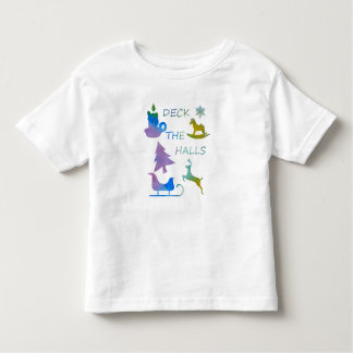Deck the halls toddler t-shirt