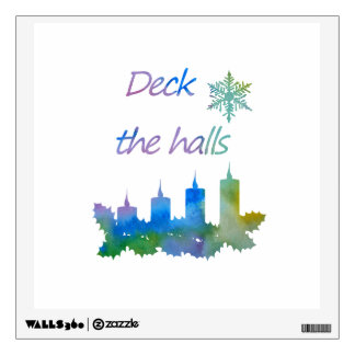 Deck the halls wall decal
