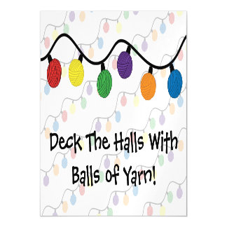 Deck The Halls With Balls Of Yarn Magnetic Card