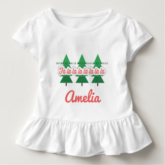 DECK THE HALLS WITH BOUGHS OF HOLLY TODDLER T-SHIRT