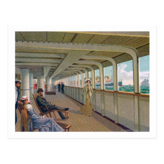 Deck View of the Patricia, Hamburg-America Line Postcard