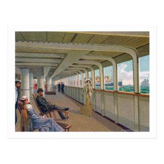 Deck View of the Patricia, Hamburg-America Line Postcard
