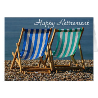 Deckchairs happy retirement card
