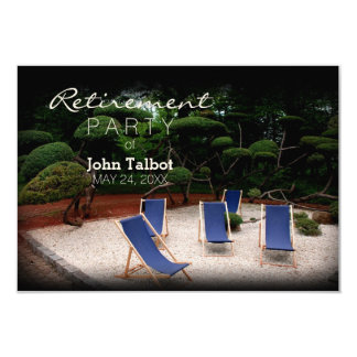 Deckchairs - Personalized Retirement Invitation