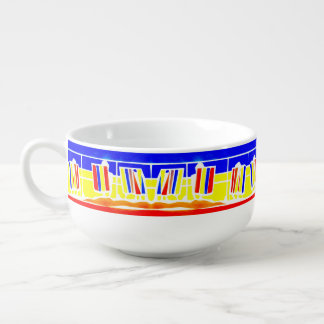 Deckchairs Promenade Seaside Soup Mug