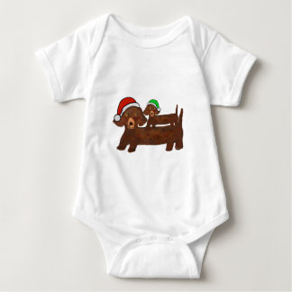 Decked out Dachshunds Baby Bodysuit