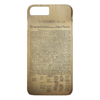 Déclaration d'indépendance vintage coque iPhone 7 plus
