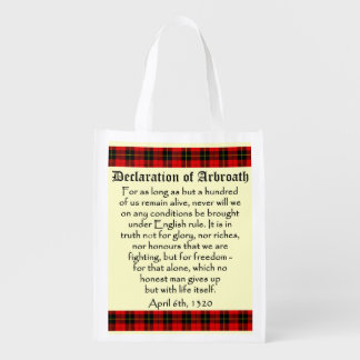 Declaration of Arbroath Wallace Tartan Bag