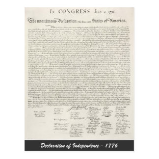 Declaration of Independence - 1776 Postcard