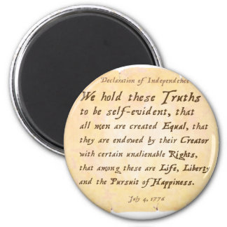 Declaration of Independence 2 Inch Round Magnet
