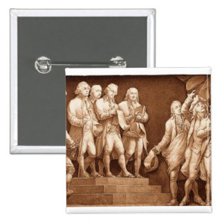 Declaration of Independence 2 Inch Square Button