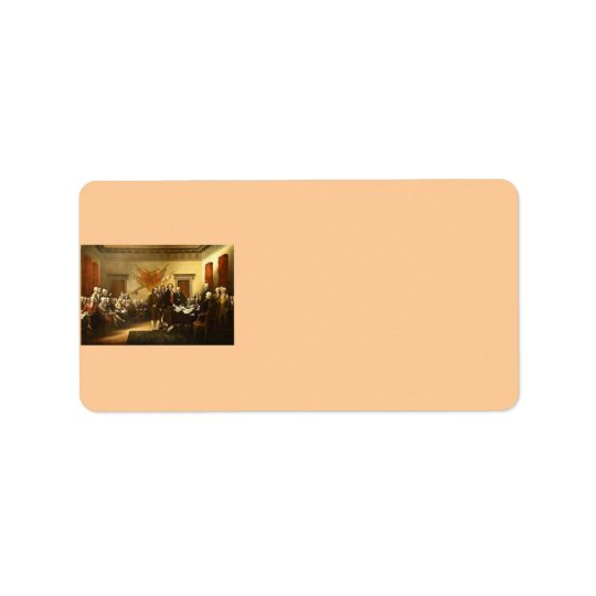 Declaration of Independence Address Label