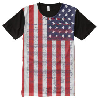 Declaration of Independence American Flag