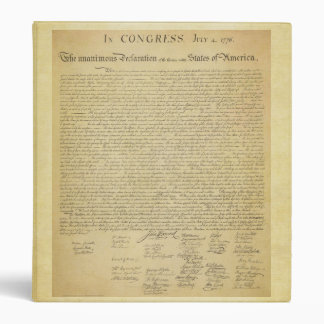 Declaration of Independence Binder
